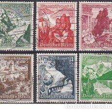 Sellos: LOTE DE SELLOS ANTIGUOS DE ALEMANIA III REICH - PAISAJES - PARTIDO NAZI - WWII. Lote 283480158