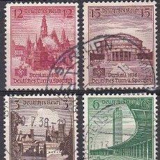 Sellos: LOTE DE SELLOS ANTIGUOS DE ALEMANIA III REICH - EDIFICIOS - CONSTRUCCIONES - ESVASTICA - NAZI - WWII. Lote 283673078