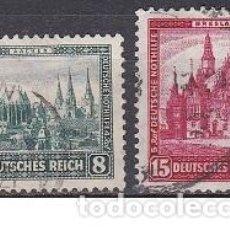 Sellos: LOTE DE SELLOS ANTIGUOS DE ALEMANIA III REICH - EDIFICIOS - CONSTRUCCIONES - ESVASTICA - NAZI - WWII. Lote 283673133