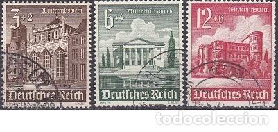 LOTE DE SELLOS ANTIGUOS DE ALEMANIA III REICH - EDIFICIOS - CONSTRUCCIONES - ESVASTICA - NAZI - WWII (Sellos - Extranjero - Europa - Alemania)