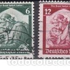 Sellos: LOTE DE SELLOS ANTIGUOS DE ALEMANIA III REICH - INFANCIA - ESVASTICA - NAZI - WWII. Lote 283674388