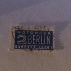 Sellos: 2 BERLÍN STEUERMARKE. Lote 284813108