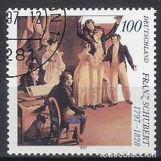 Sellos: ALEMANIA 1997 - 2º CENTENARIO DEL NACIMIENTO DE FRANZ SCHUBERT - USADO. Lote 286187548