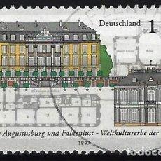 Sellos: ALEMANIA 1997 - CASTILLOS DE AUGUSTSTUSBURG Y FALKENLUST - USADO. Lote 286188303