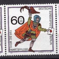 Sellos: BERLIN, 1989 , MICHEL 852 PEQUEÑAS MANCHAS EN REVERSO. Lote 288392228