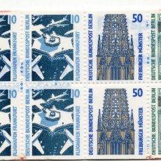 Sellos: BERLIN, 1989 , MICHEL BOOKLET HB 22. Lote 288392543