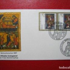 Sellos: BERLÍN 1987 SERIE NAVIDAD EN FDC SOBRE PRIMER DÍA EXCELENTE!!!. Lote 288477913