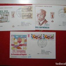 Sellos: BERLÍN 1986 LOTE TRES FDC SOBRE PRIMER DÍA EXCELENTES!!!. Lote 288478948
