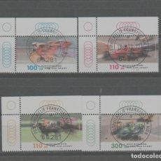 Sellos: LOTE O-SELLOS ALEMANIA DEPORTES SERIE COMPLETA. Lote 288488578