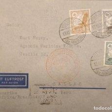 Sellos: O) 1934 ALEMANIA, VOLKSDORF HAMBURGO, SWASTIKA SUN, GLOBE Y EAGLE, DEUTSCHE LUFTPOST, MIT LUFTPOST,. Lote 288730513