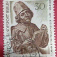 Sellos: ALEMANIA BERLIN 1967. TESOROS DE ARTE EN LOS MUSEOS DE BERLÍN. : MI:DE-BE 305,. Lote 288732843