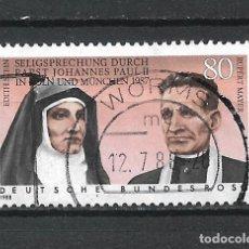 Sellos: ALEMANIA 1987 SELLO USADO - 15/65. Lote 289529813