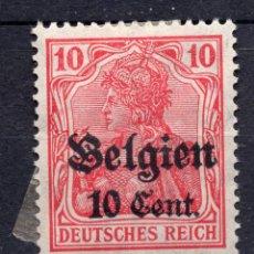 Sellos: BELGICA OCUPACION ALEMANA I WW , 1918 , STAMP, MICHEL 14C1. Lote 289745478