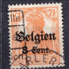Sellos: BELGICA OCUPACION ALEMANA I WW , 1916 , STAMP, MICHEL 13AII. Lote 289745643