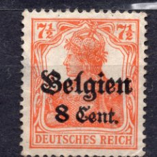 Sellos: BELGICA OCUPACION ALEMANA I WW , 1916 , STAMP, MICHEL 13AII. Lote 289745673