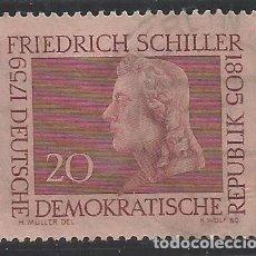 Sellos: ALEMANIA - ORIENTAL - FRIEDRICH SCHILLER - YVERT 450 - USADO. Lote 289840688