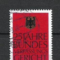Sellos: ALEMANIA 1976 USADO - 20/24. Lote 289840908