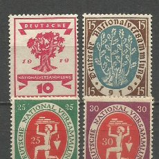 Francobolli: ALEMANIA IMPERIO YVERT NUM. 106/109 * SERIE COMPLETA CON FIJASELLOS. Lote 291985563