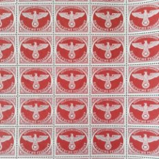 Francobolli: GRANDE HOJA SELLOS ALEMANIA TERSER REICH ESVASTICA NAZI 1942. Lote 292287698