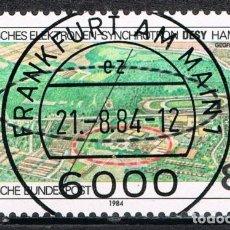 Sellos: [C0663] ALEMANIA 1984, FERIA INTERNACIONAL DE TECNOLOGÍA. HAMBURGO (CTO). Lote 294981168