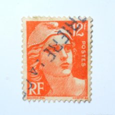 Sellos: SELLO POSTAL FRANCIA 1951, 12 F, MARIANNE TYPE GANDON, USADO. Lote 295454173