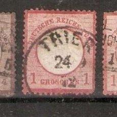 Sellos: ALEMANIA.IMPERIO. 1872. YT, 4,13, 2X16,17.. Lote 296577808