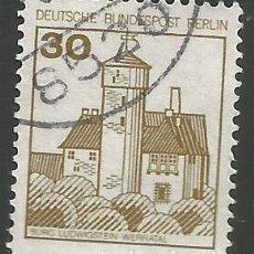 Sellos: ALEMANIA - BERLIN - 1980 - SELLO BÁSICO CORTADO, DE CARNET - CASTILLO LUDWIGSTEIN WERRATAL - USADO. Lote 297104888