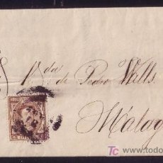 Sellos: ESPAÑA. (CAT. 174).1876. IMPRESO DE CORREO INTERIOR DE MÁLAGA. FRANQUEO 5 CTS. RARO CORREO INTERIOR.. Lote 27441193