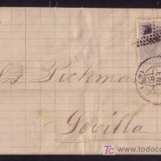 Sellos: ESPAÑA. (CAT. 204). 1880. CARTA DE BILBAO A SEVILLA. 25 CTS. MAT. TRÉBOL BILBAO Y ROMBOS. LUJO.. Lote 27019529