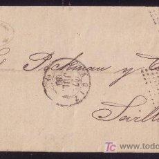 Sellos: ESPAÑA. (CAT. 204).1880. CARTA DE CÁDIZ A SEVILLA. 25 CTS. MAT. DOBLE ROMBO CON ESTRELLA. MAGNÍFICA.. Lote 26952556