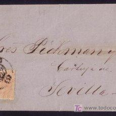 Sellos: ESPAÑA. (CAT. 210). 1882. CARTA DE MADRID A SEVILLA. 15 CTS. MAT. TIPO TRÉBOL DE MADRID. MAGNÍFICA.. Lote 24817339