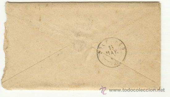 Sellos: ANTIGUA CARTA ÉPOCA DE ALFONSO XII CURIOSO MATASELLOS A CLASIFICAR CON CARTA EN EL INTERIOR - Foto 3 - 25377581
