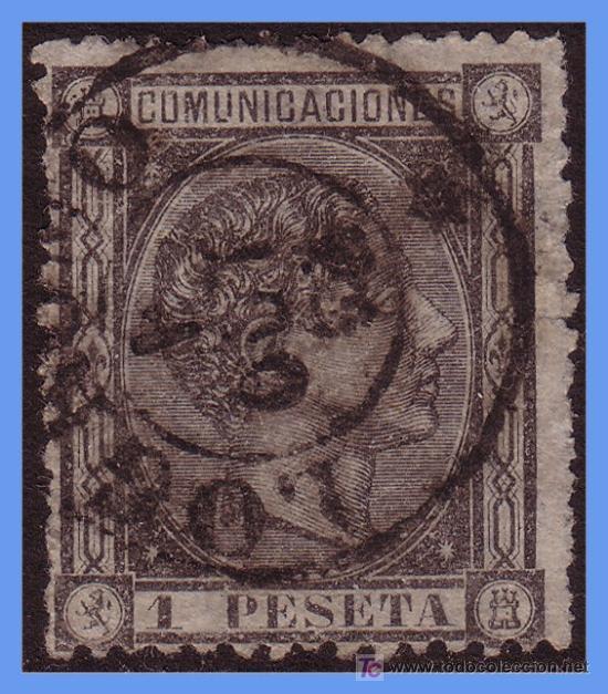 1875 ALFONSO XII Nº 169 (O) (Sellos - España - Alfonso XII de 1.875 a 1.885 - Usados)