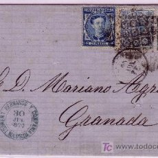 Sellos: CARTA DE MADRID A GRANADA, FRANQUEADA CON LOS SELLOS Nº 175 Y 183 Y 184.. Lote 22309305