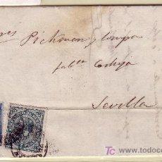 Sellos: CARTA DE SAN SEBASTIAN A SEVILLA, FRANQUEADA CON LOS SELLOS Nº 175 Y 183.. Lote 12937615