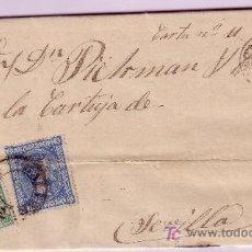 Sellos: CARTA DE PALMA DE MALLORCA A SEVILLA, FRANQUEADA CON EL SELLOS Nº 154 Y 164.. Lote 13832585