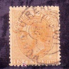 Sellos: CADIZ.-MATASELLO FECHADOR TIPO TREBOL DE PUERTO REAL SOBRE SELLO DE ALFONSO XII . Lote 13224321