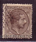 CANTABRIA.- MATASELLO ROMBO DE CIRCULITOS DE SANTANDER SOBRE SELLO DE ALFONSO XII ( TORT 358 ) (Sellos - España - Alfonso XII de 1.875 a 1.885 - Cartas)