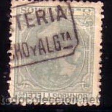 Sellos: VIZCAYA.- MATASELLO CARTERIA MODELO OFICIAL TIPO I EN NEGRO GUECHO Y ALGTA. SOBRE SELLO ALFONSO XII. Lote 14268245