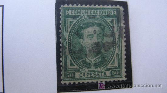 1876 ALFONSO XII EDIDIL 179 (Sellos - España - Alfonso XII de 1.875 a 1.885 - Usados)