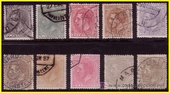 1879 ALFONSO XII, SERIE COMPLETA (O) (Sellos - España - Alfonso XII de 1.875 a 1.885 - Usados)