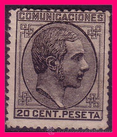 1878 ALFONSO XII, EDIFIL Nº 193 (*) (Sellos - España - Alfonso XII de 1.875 a 1.885 - Nuevos)