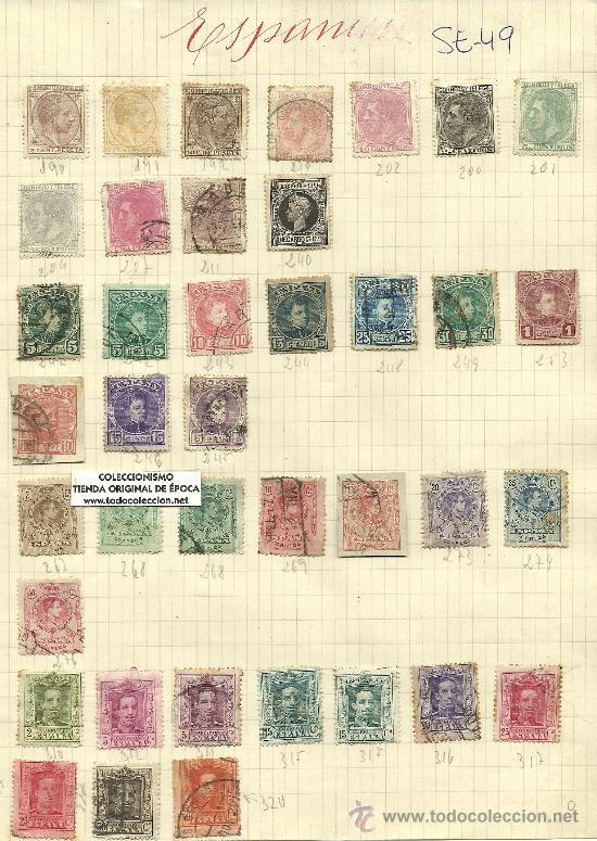 (SE-49)LOTE DE SELLOS DE ESPAÑA (Sellos - España - Alfonso XII de 1.875 a 1.885 - Usados)