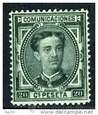 ALFONSO XII, 1876, 20 CTS* (Sellos - España - Alfonso XII de 1.875 a 1.885 - Nuevos)