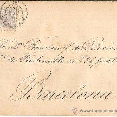 Sellos: CARTA COMPLETA MADRID A BARCELONA 1880. Lote 26816972