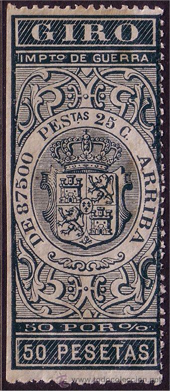 FISCALES 1876 GIRO, ALEMANY Nº 112 * * (Sellos - España - Alfonso XII de 1.875 a 1.885 - Nuevos)
