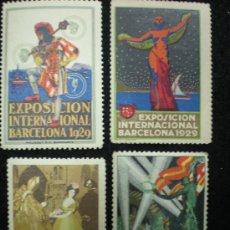 Sellos: SELLOS. LOTE DE 6 SELLOS CONMEMORATIVOS. EXPOSICIÓN INTERNACIONAL BARCELONA. 1929.. Lote 25214735