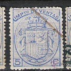 Sellos: 1180-SELLOS FISCALES IMPUESTOS 3 COLORES DISTINTOS AÑO 1875,TIPO A,B,C-VALOR 20,00€. Lote 25765509