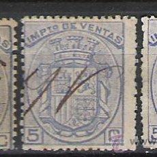 Sellos: 1620-3 SELLOS DIFERENTES ALFONSO XII IMPUESTO RECIBOS .COLOR DISTINTO VEAN,SI CATALOGO . Lote 26198336