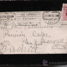Sellos: CARTA DE SEVILLA A MADRID.DE 21 ENERO 1930. FRANQUEADO CON SELLO 317.. Lote 27417887